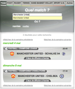 Choix d'un match allomatch
