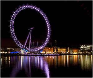 La London Eye, de nuit
