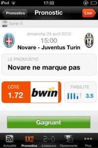 application-paris-sportifs-pronostics