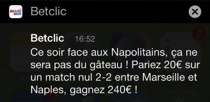 Le dernier jeu de mots en date, sur le match d'hier, Marseille-Naples. Bravo!