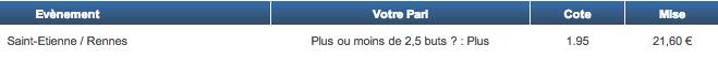 Mon ticket de jeu sur Netbet.fr