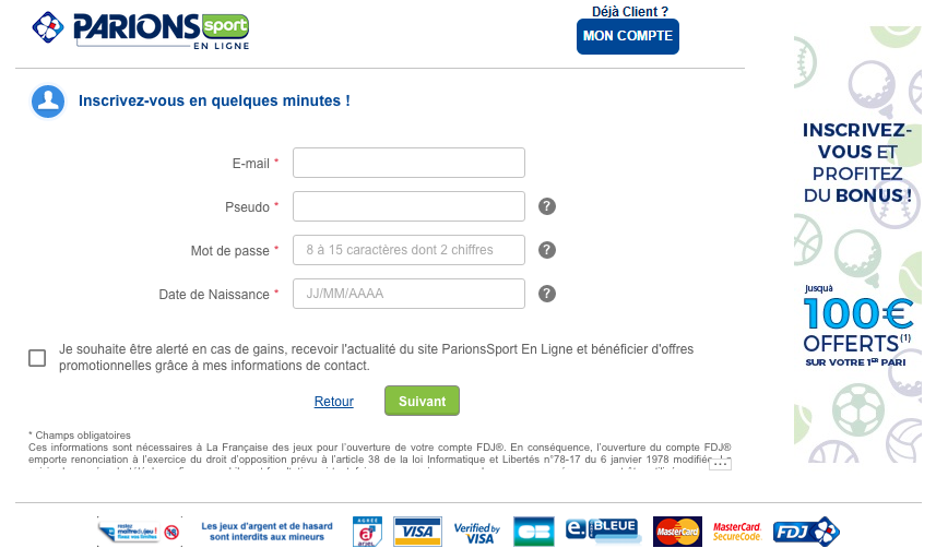 inscription parions sport en ligne cashback igraal