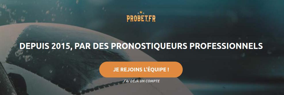 page inscription probet pronostiqueur tipster