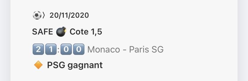 pronostic proposé par le site pro-bet Monaco Paris Saint Germain